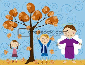 angel with children 3