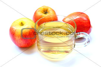 Apple juice in cup