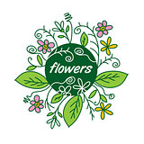 flower vector logo