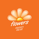 flower vector logo