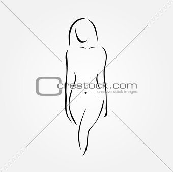 A nude woman