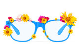 Glasses with flowers