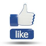 3d Like thumbs-up