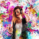 Colourful effect music