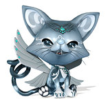 3D Rendered cute fantasy pet