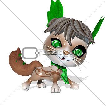 3D Rendered cute fantasy pet