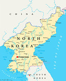 North Korea Political Map