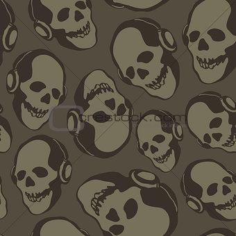 skull in earphones