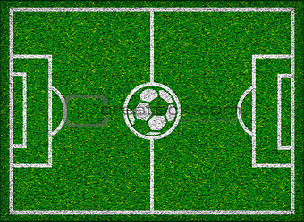 Football field. Vector illustration.