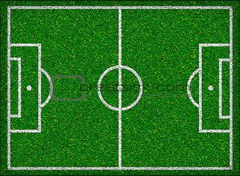 Football field. Vector illustration.