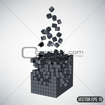 Abstract Creative concept vector background of geometric shapes - cube. Design style letterhead and brochure for business. EPS 10 vector illustration.