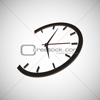 clock time arrow second minute hour