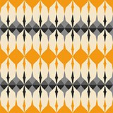 Tile orange and grey vector pattern