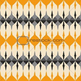 Tile orange and grey vector pattern