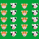 Cow Face emotion Icon Illustration set of emoji sign