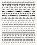 Vector Hand Drawn Balck Pattern Brushes, Line Borders