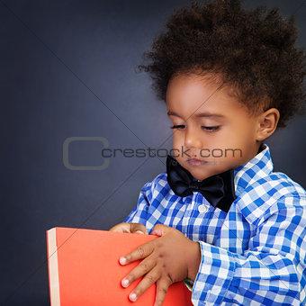 African schoolboy portrait