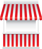 Detailed vector illustration of a stall stand