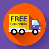 Car Shipping icon. Fast and free delivery concept.