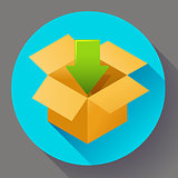 Shipping and packing icon. Flat design style.