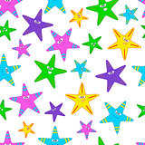 vector seamless pattern with starfish