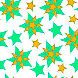 Abstract pattern from the stars, curve, seamless vector background.