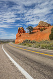 Road through Red Canyon in Utah, America