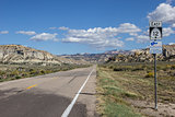 Empty highway 12 in Utah