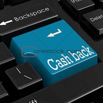 Cash back concept. 3D Render.