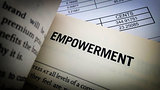 Empowerment word on book