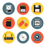 Digital Data Vector Flat Icons