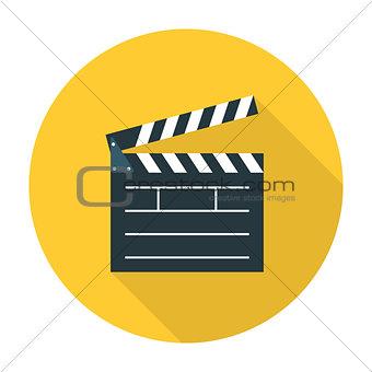 Clapper board flat icon