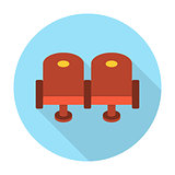 Cinema chair flat icon
