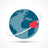 Heart revolves around the earth