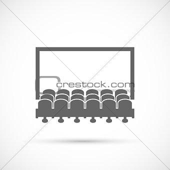Cinema hall icon