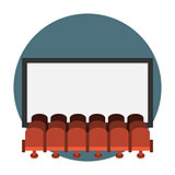 Cinema hall flat icon