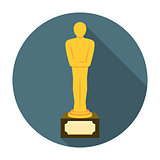 Movie award flat icon