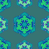 Blue seamless ethnic ornament