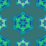 Blue seamless ethnic ornament