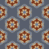 Ethnic seamless ornamental pattern