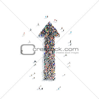 group people  shape  arrow icon