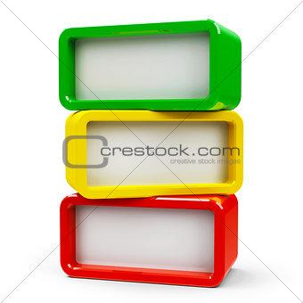 Three rectangle - three steps
