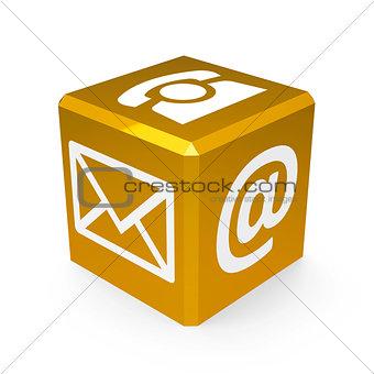 Gold contact button