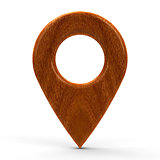 Wooden map pointer