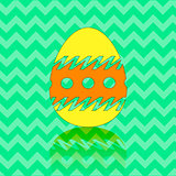 Colored Easter Egg Silhouette