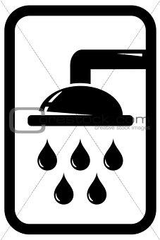 black shower icon