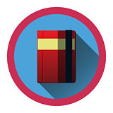 modern flat icon with diary and bookmark and shadow