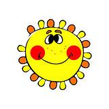 smilling sun. vector
