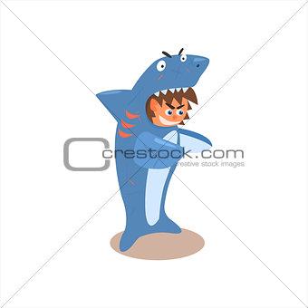 Boy Desguised As Shark