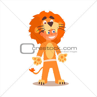 Boy Desguised As Lion